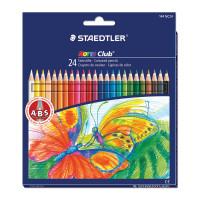 """STAEDTLER 144 NC24 Карандаши цветные STAEDTLER (Германия) """"Noris club"""", 24 цвета, заточенные, европодвес, 144 NC24"""