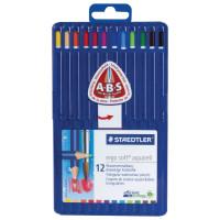 """STAEDTLER 156 SB12 Карандаши цветные акварельные STAEDTLER ПРЕМИУМ (Германия) """"Ergosoft"""", 12 цветов, трехгранные, пластиковый футляр, 156 SB12"""