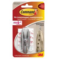 COMMAND 17081CHR Крючок самоклеящийся COMMAND легкоудаляемый, средний, хромированный, до 1,35 кг, 17081CHR