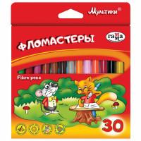 """Гамма 180319_08 Фломастеры ГАММА """"Мультики"""", 30 цветов, вентилируемый колпачок, картонная упаковка, 180319_08"""
