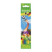 """Brauberg 180521 Карандаши цветные BRAUBERG """"Football match"""", 6 цветов, заточенные, картонная упаковка, 180521"""