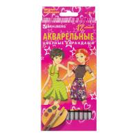 "Brauberg 180567 Карандаши цветные акварельные BRAUBERG ""Pretty Girls"", 12 цветов, заточенные, картонная упаковка, 180567"