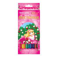 """Brauberg 180577 Карандаши цветные BRAUBERG """"Rose Angel"""", 12 цветов, пластиковые, заточенные, картонная упаковка, 180577"""