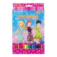 "Brauberg 180580 Карандаши цветные BRAUBERG ""Pretty Girls"", 18 цветов, пластиковые, заточенные, картонная упаковка, 180580"