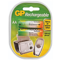 GP 180AAHC-2DECRC2 Батарейки аккумуляторные GP, АА, Ni-Mh, 1800 mAh, комплект 2 шт., в блистере, 180AAHC-2DECRC2