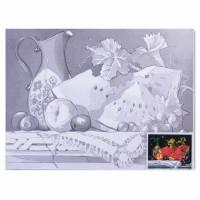 "Brauberg 190626 Холст на картоне с контуром BRAUBERG ART ""CLASSIC"", ""Натюрморт"", 30х40 см, грунтованный, 100% хлопок, 190626"