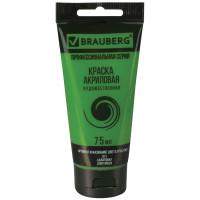"Brauberg 191101 Краска акриловая художественная BRAUBERG ART ""CLASSIC"", туба 75 мл, салатовая, 191101"