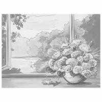 "Brauberg 191540 Холст на картоне с контуром BRAUBERG ART ""CLASSIC"" ""БУКЕТ"" 30х40 см, грунтованный, хлопок, 191540"