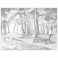 "Brauberg 191546 Холст на картоне с контуром BRAUBERG ART ""CLASSIC"" ""ОСЕНЬ"", 30х40 см, грунтованный, хлопок, 191546"