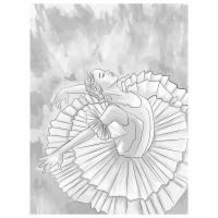 """Brauberg 191547 Холст на картоне с контуром BRAUBERG ART """"CLASSIC"""" """"МУЗА"""", 30х40 см, грунтованный, хлопок, 191547"""