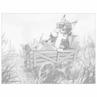 "Brauberg 191549 Холст на картоне с контуром BRAUBERG ART ""CLASSIC"" ""КОТ"", 30х40 см, грунтованный, хлопок, 191549"