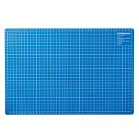 ERICH KRAUSE 19272 Коврик-подкладка настольный для резки А3 (450х300 мм), сантиметровая шкала, синий, 3 мм, ERICH KRAUSE, 19272