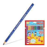 """STABILO 203/18 Карандаши цветные утолщенные STABILO """"Trio"""", 18 цветов, грифель 4,2 мм, трехгранные, заточенные, 203/18"""
