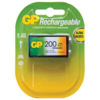 GP 20R8H-2CRU1 Батарейка аккумуляторная GP, Крона (20R8H, 6F22), Ni-Mh, 200 mAh, 1 шт., в блистере, 20R8H-2CRU1