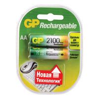 GP 210ААНСB-UC2 Батарейки аккумуляторные GP, АА, Ni-Mh, 2100 mAh, комплект 2 шт., в блистере, 210ААНСB-UC2