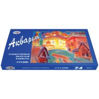 """Гамма 215001 Краски акварельные художественные ГАММА """"Студия"""", 24 цвета, кювета 2,5 мл, картонная коробка, 215001"""