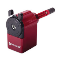 Brauberg 222517 Точилка механическая BRAUBERG, металлический механизм, черный/бордовый, 222517