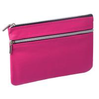 Brauberg 224037 Пенал-косметичка BRAUBERG под фактурную кожу, розовый, 1 отделение, 2 кармана,