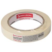 Brauberg 228085 Клейкая лента малярная креппированная 19 мм х 50 м (реальная длина!), профессиональная, BRAUBERG, 228085