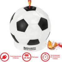 """Brauberg 228427 Точилка электрическая BRAUBERG """"Football"""", питание от 4 батареек АА, дополнительное сменное лезвие, 228427"""