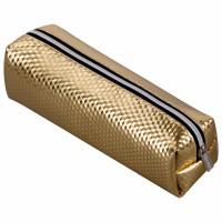 "Brauberg 228992 Пенал-косметичка BRAUBERG, глянцевый, мягкий, ""Celebrity Gold"", 21х5х6 см, 228992"