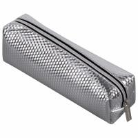 "Brauberg 228993 Пенал-косметичка BRAUBERG, глянцевый, мягкий, ""Celebrity Silver"", 21х5х6 см, 228993"
