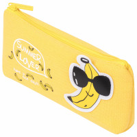 "Brauberg 228999 Пенал-косметичка BRAUBERG, канвас с аппликацией, ""Cool Banana"", 19х4х8 см, 228999"