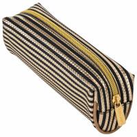 "Brauberg 229021 Пенал-косметичка BRAUBERG, мягкий, ""Royal"", золотой, 19х6х6 см, 229021"