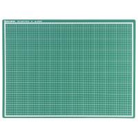 Brauberg 236903 Коврик (мат) для резки BRAUBERG, 3-слойный, А2 (600х450 мм), двусторонний, толщина 3 мм, зеленый, 236903
