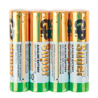 GP 24ARS-2SB4 Батарейки КОМПЛЕКТ 4 шт., GP Super, AAA (LR03, 24А), алкалиновые, мизинчиковые, в пленке, 24ARS-2SB4