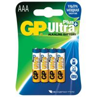 GP 24AUP-2CR4 Батарейки КОМПЛЕКТ 4 шт., GP Ultra Plus, AAA (LR03, 24А), алкалиновые, мизинчиковые, блистер, 24AUP-2CR4