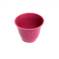 Прочие 27074 Горшочек SN-13 декор. 4,5см*5,5см, пластик, цв.малин.
