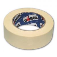 UNIBOB 28138 Клейкая лента малярная креппированная 38 мм х 50 м (реальная длина!), профессиональная, UNIBOB 28138
