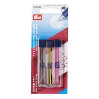 Prym 342386 610842 Запасные графиты для механ. карандаша,O 0,9 мм, желтый / черный / розовый Prym
