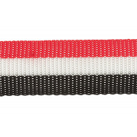 Прочие 3713 (3075_3590) Стропа 30 мм 3713 (3075_3590) ФАСОВКА 2.5 м красный/белый/черный