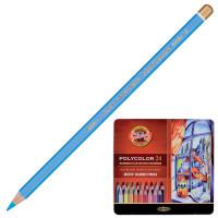 """KOH-I-NOOR 3824024002PL Карандаши цветные художественные KOH-I-NOOR """"Polycolor"""", 24 цвета, 3,8 мм, металлическая коробка, 3824024002PL"""