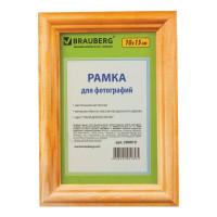 "Brauberg 390019 Рамка 10х15 см, дерево, багет 18 мм, BRAUBERG ""HIT"", канадская сосна, стекло, подставка, 390019"