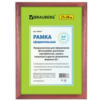"Brauberg 390257 Рамка 21х30 см, дерево, багет 18 мм, BRAUBERG ""HIT"", темная вишня, стекло, 390257"