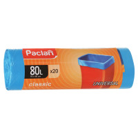 "PACLAN 402054 Мешки для мусора 80 л, синие, в рулоне 20 шт., ПНД, 12 мкм, 70х90 см, PACLAN ""Classic"", 402054"
