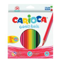 CARIOCA 40381 Карандаши цветные CARIOCA, 24 цвета, шестигранные, заточенные, европодвес, 40381