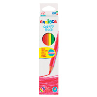 CARIOCA 41256 Карандаши цветные CARIOCA (Италия), 6 цветов, грифель 3 мм, шестигранные, заточенные, европодвес, 41256
