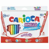"""CARIOCA 41521 Фломастеры двухсторонние CARIOCA (Италия) """"Birello"""", 24 цвета, суперсмываемые, 41521"""