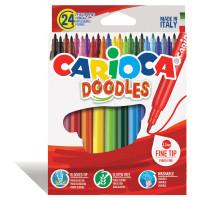 """CARIOCA 42315 Фломастеры CARIOCA (Италия) """"Doodles"""", 24 цвета, суперсмываемые, 42315"""