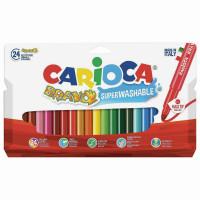 """CARIOCA 42763 Фломастеры утолщенные CARIOCA (Италия) """"Bravo"""", 24 цвета, суперсмываемые, 42763"""