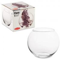 """PASABAHCE 43417 Ваза """"Flora"""", круглая, высота 10 см, стекло, PASABAHCE, 43417"""