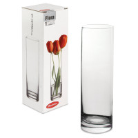 """PASABAHCE 43767 Ваза """"Flora"""", колба, высота 26,5 см, стекло, PASABAHCE, 43767"""