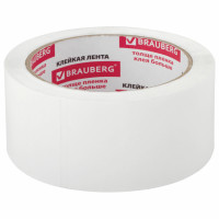 Brauberg 440158 Клейкая лента упаковочная 48 мм х 66 м, БЕЛАЯ, толщина 45 микрон, BRAUBERG, 440158