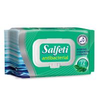"SALFETI 48397 Салфетки влажные, 72 шт., SALFETI ""Antibacterial"", антибактериальные, крышка-клапан, 48397"