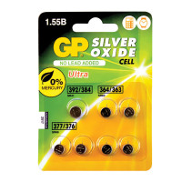 GP 4891199150494 Батарейки GP Silver oxide, комплект 7 шт. (392/384 1 шт., 364/363 2 шт., 377/376 4 шт.), в блистере, 4891199150494
