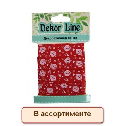 "Лента репсовая ""Губки"", 15мм*3м (арт. 495)"